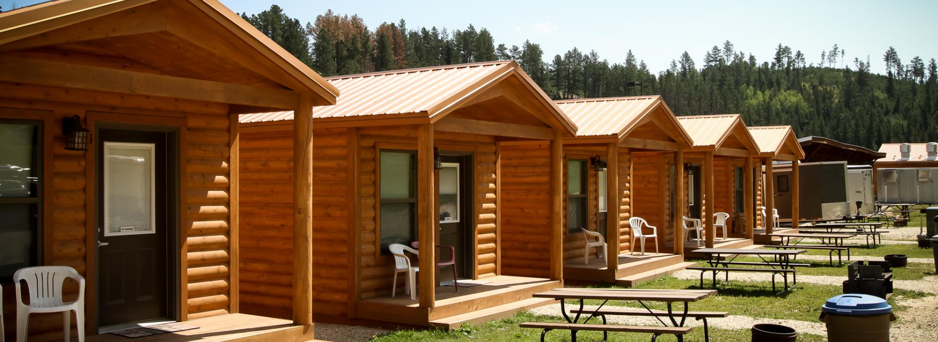Steel wheel campground family camping near deadwood for Nearby campgrounds with cabins
